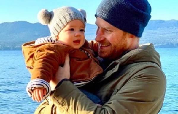 Принц Гарри с сыном