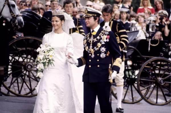 Свадьба Карла Густава и Сильвии Зоммерлат
