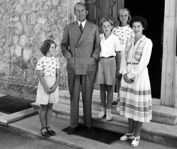 Греческая королевская семья в 1950 году