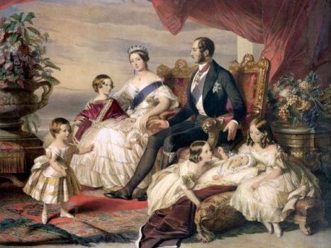 Королева Виктория, принц Альберт и 5 их детей