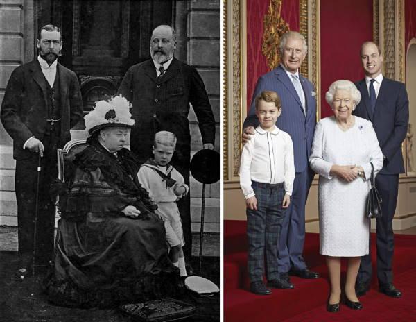 Четыре поколения наследников трона