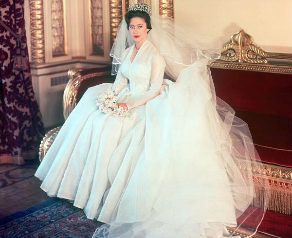 Принцесса Маргарет в свадебном платье