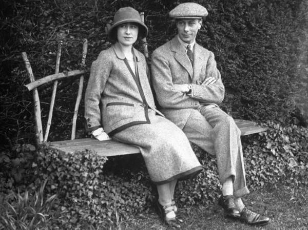 Будущая королевская пара в 1922 году
