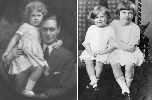 Королева и Тэтчер в детстве