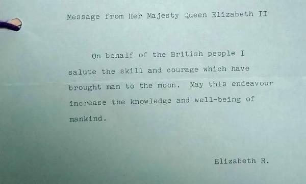 Королевское послание на Луну