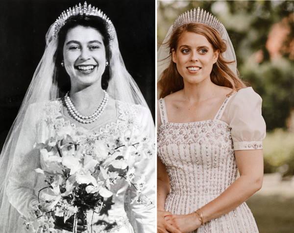 Королева и ее внучка в день свадьбы
