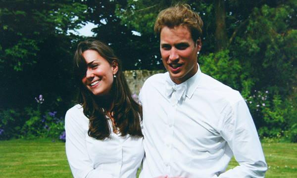Кейт Миддлтон и принц Уильям во время учебы