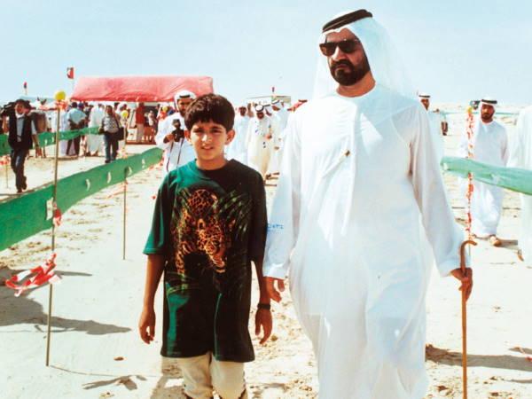 Хамдан с отцом