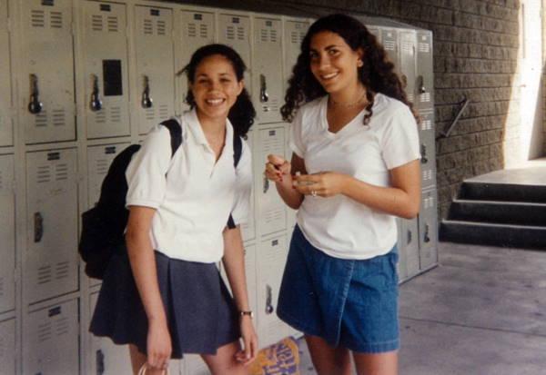 Меган Маркл со школьной подругой