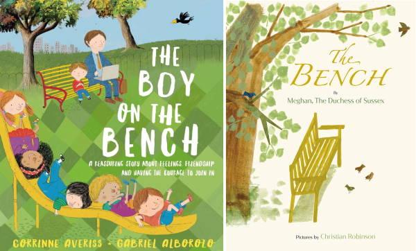 Обложки книг The Boy on the Bench и The Bench